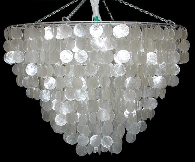 Shell Horizons Hanging Baskets Chandeliers – Seashell Chandeliers