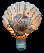 Decorative Scallop Nite Lite - Click For Larger View